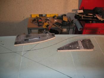 Chap 7 Mod - Curve templates for rudder cable conduit
