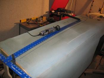 Chap 7 Mod - Dremelling rudder channel