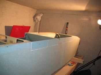 Right fuselage foam repair