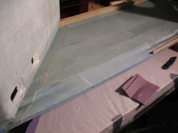 Lower right fuselage repair