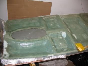 Glassing fuselage bottom