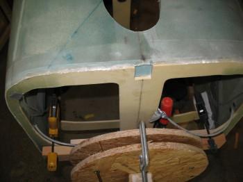 Sanding fuselage