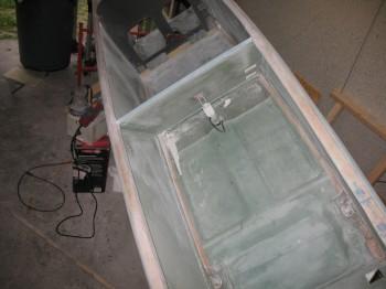 Sanding Interior Fuselage