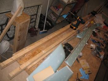 Shop & canard jig tear down