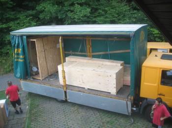 Fuselage, canard/cs spar & wing crates