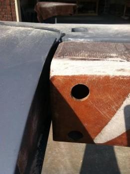 Spar needing sanding for flush strake fit