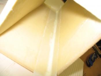 Headrest corner tape