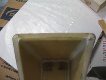 Prepping foam for hinge
