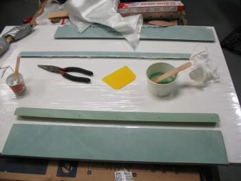 Glassing seat top & gap piece