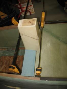 Headrest mock-up on seatback base