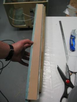 Glass overhang trimmed