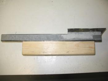 Left side rail edge template