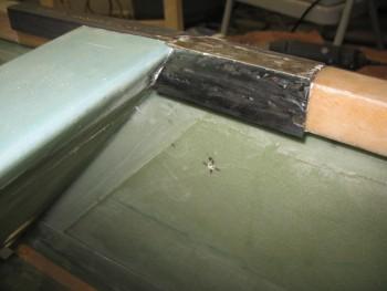 Right inboard aft side rail welded
