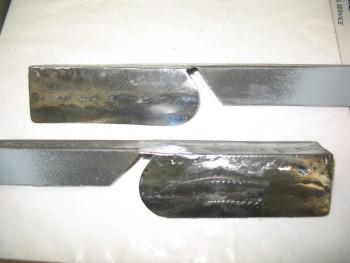 Roll bar side rails trimmed