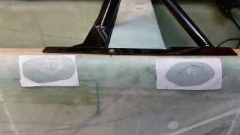 Left nutplates embedded & covered