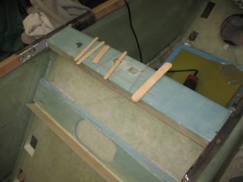Primed side rails re-installed