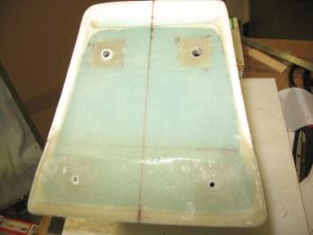 Headrest removed & crossbar holes