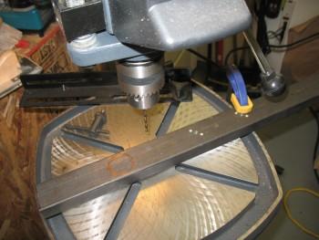 Drilling seat belt mount holes