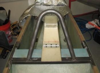 Roll bar tack welded to cross bar