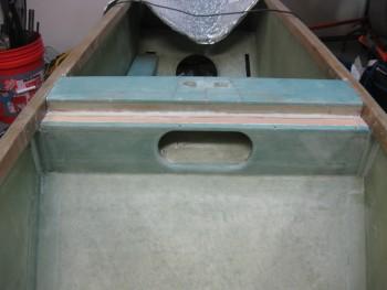 Lower seat back BID tapes glassed