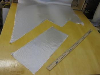 Cutting BID for lower seat back layup
