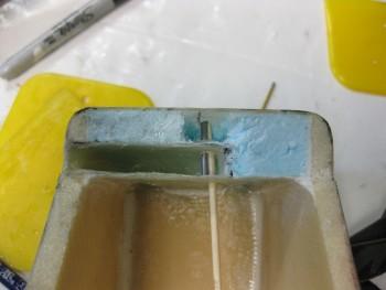 Upper headrest lock cavity & lock pin