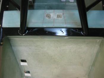 Showing lower seat back & crossbar