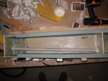 Right CS Spar cable conduit installed