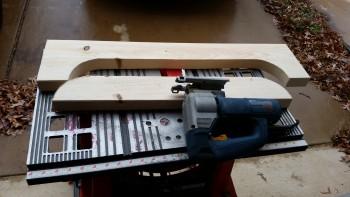 Cutting fuselage saddles