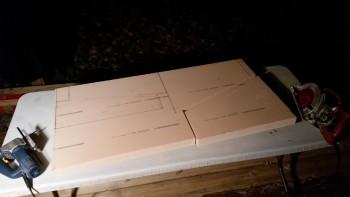 First panel cut
