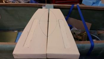 Rudder pedal base mounts routered