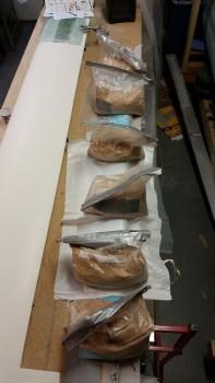 Sandbags on micro'd elevator foam
