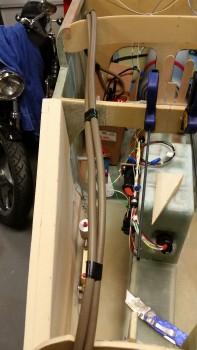 Air hose as test big power cables