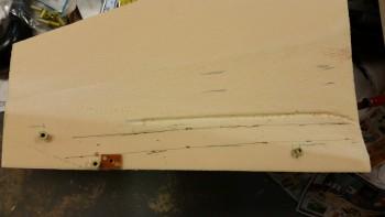 Right side foam panel prep