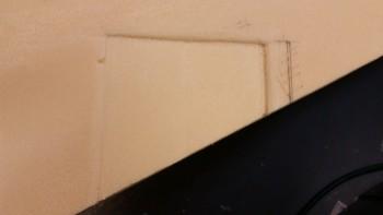 Prepping trim pad depression edges