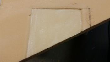 Microslurry on foam trim pad
