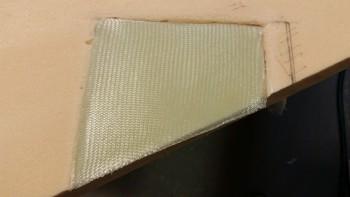 4-ply BID layup on trim pad