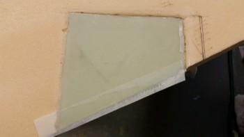 Trim pad 4-ply BID layup peel plied