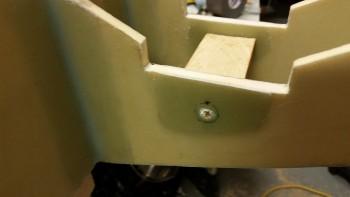 Drilling holes for battery mount tube