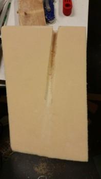 Pitot tubing channel cut on Left side