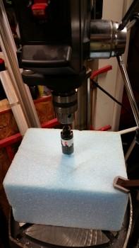 Drilling front nose foam block
