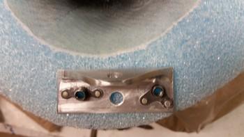 New landing light mounting bracket