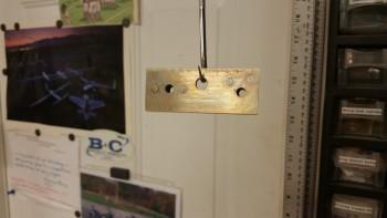Alodined landing light mount bracket