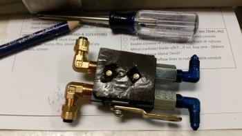 Sticky felt backing for installing PBV