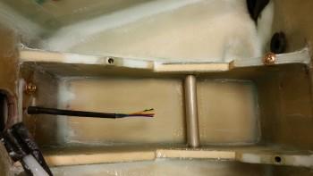 H100 center foam post layup