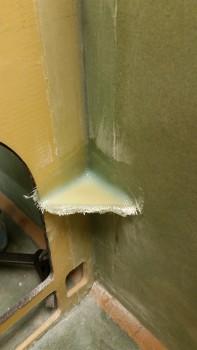 Left panel corner straightening brace glassed