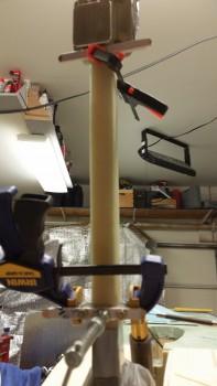 Gear strut fairing mount tabs 5-glued in place