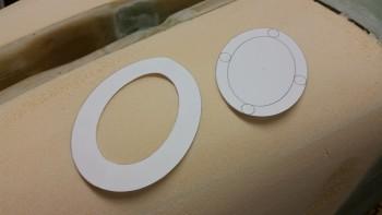 Landing light lens mount & lens templates