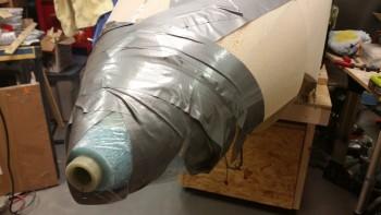 Landing Light mount layup wrapped