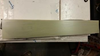 Strut fairing sanded for layup